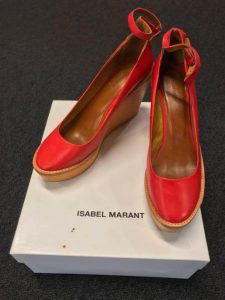 Isabel Marant Red Wedges $250 (size 38 EU)